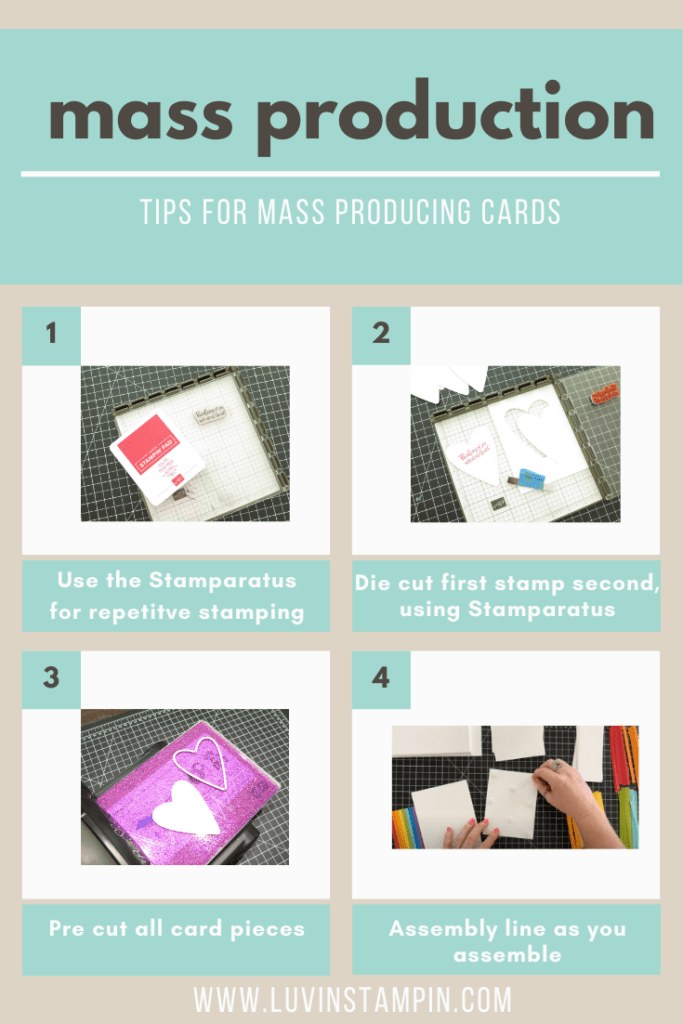 mass production tips for card making