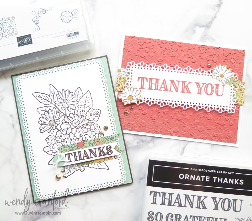 Simple & Sweet Ornate Garden Cards using the Ornate Gardens Suite of products from Stampin' UP!
