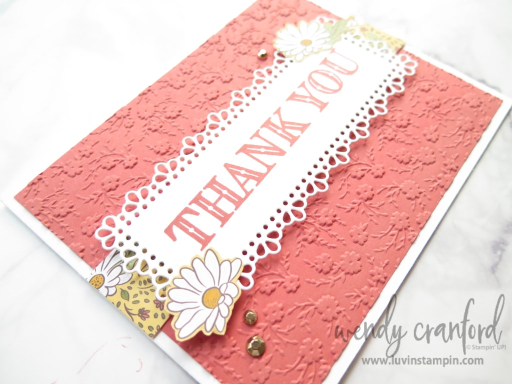Thank you card from the Simple & Sweet Ornate Garden cards