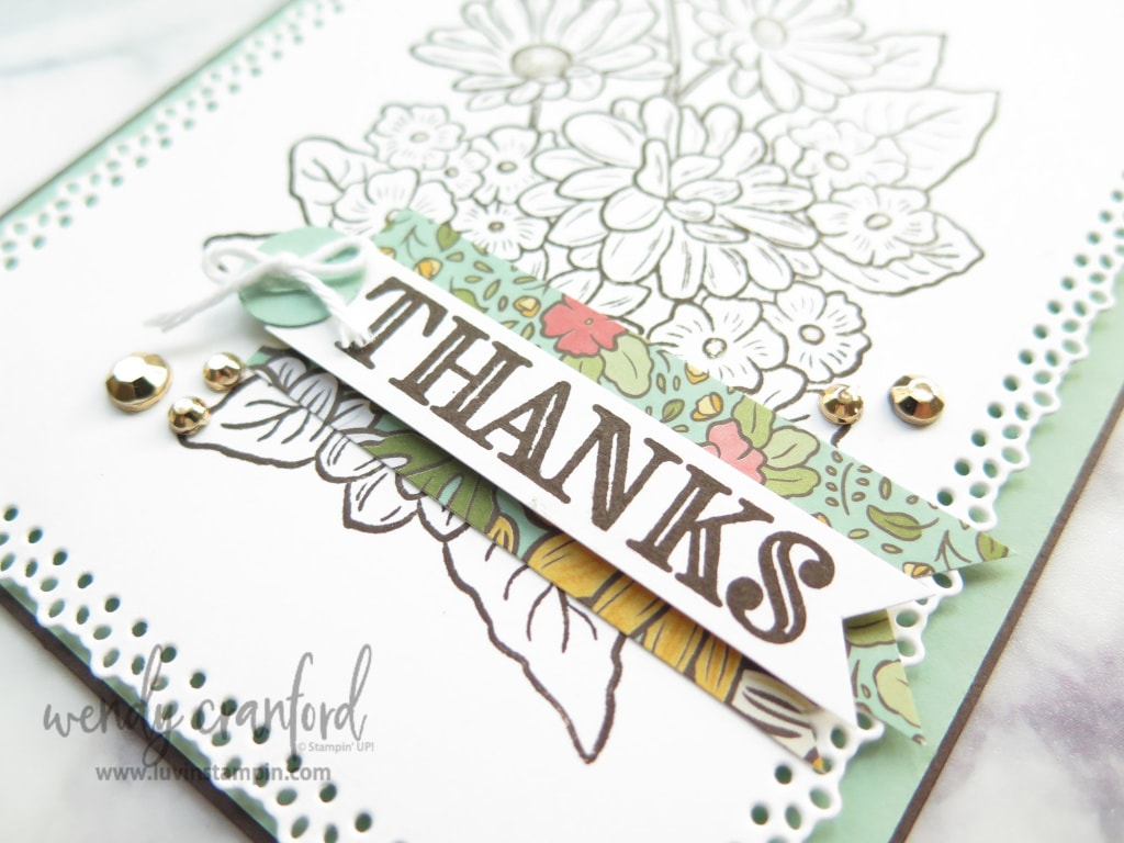 Thanks card from the Ornate Garden Suite of products