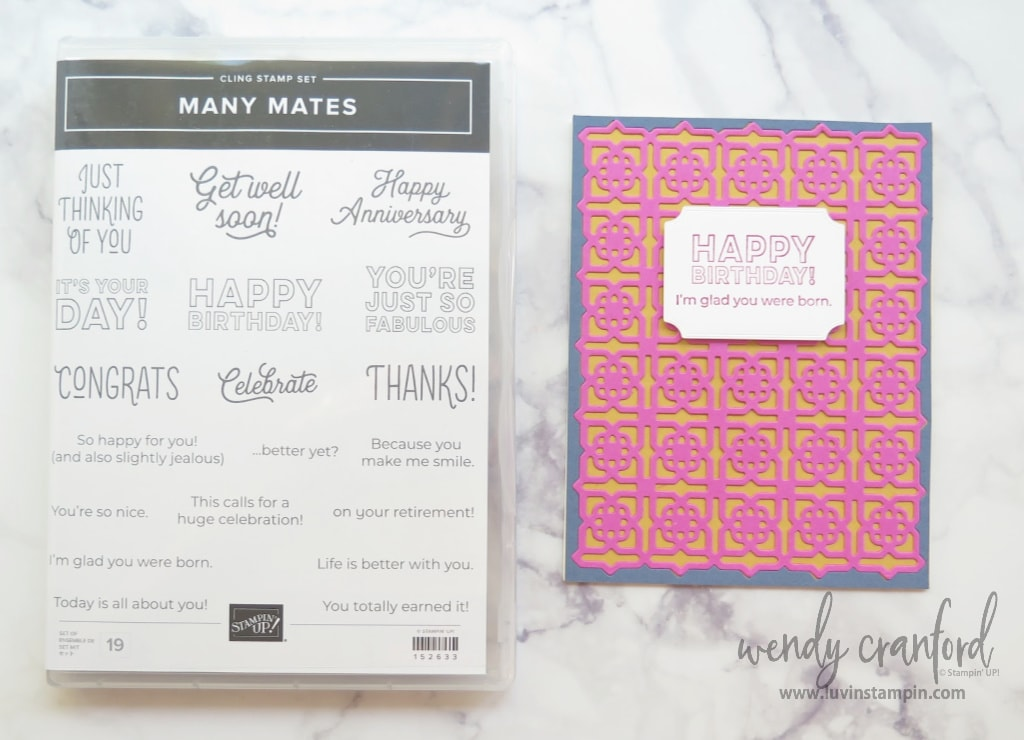 Many Mates Bundle using Magenta Madness in color from Stampin' UP!