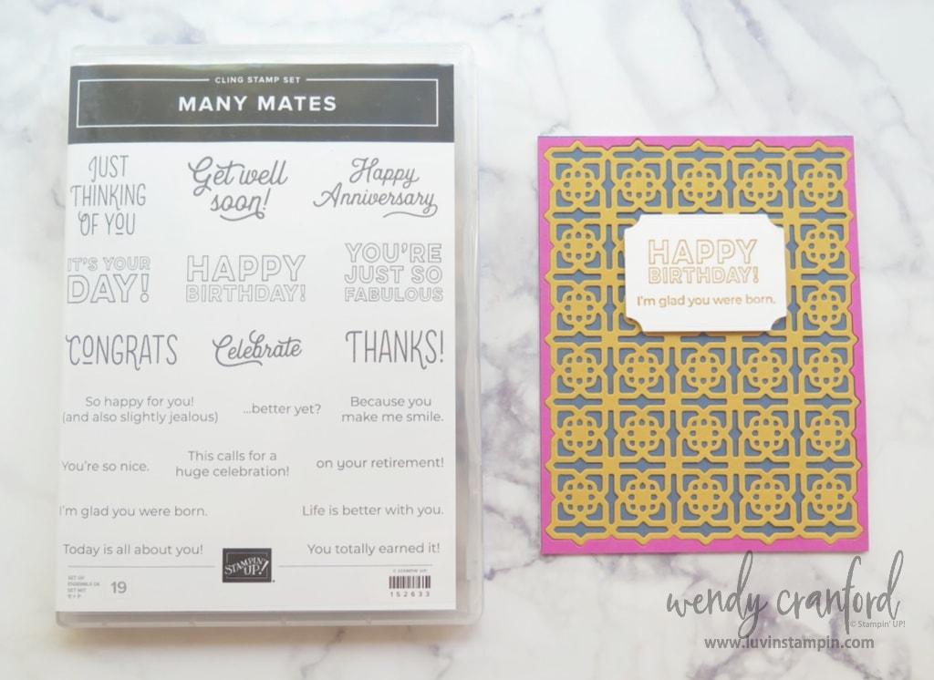 Bumblee is a new Stampin' UP! In Color.