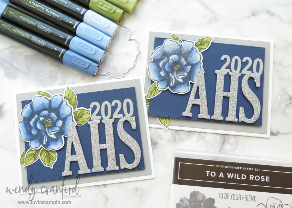 Senior Graduation Cards using To A Wild Rose from Stampin' UP!