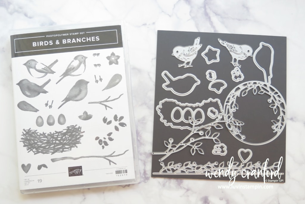 Birds & Branches bundle from Stampin' UP! Available June 3rd.