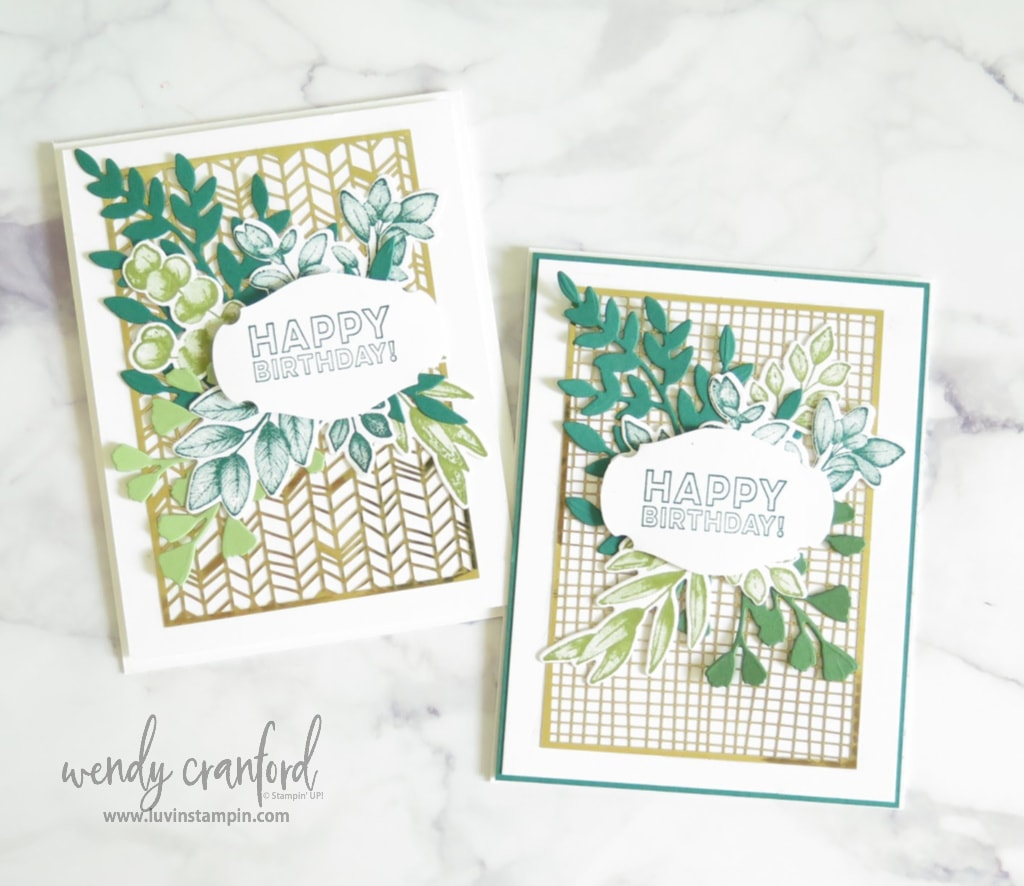 Forever Fern Bundle from Stampin UP! creates simple and gorgeous cards.