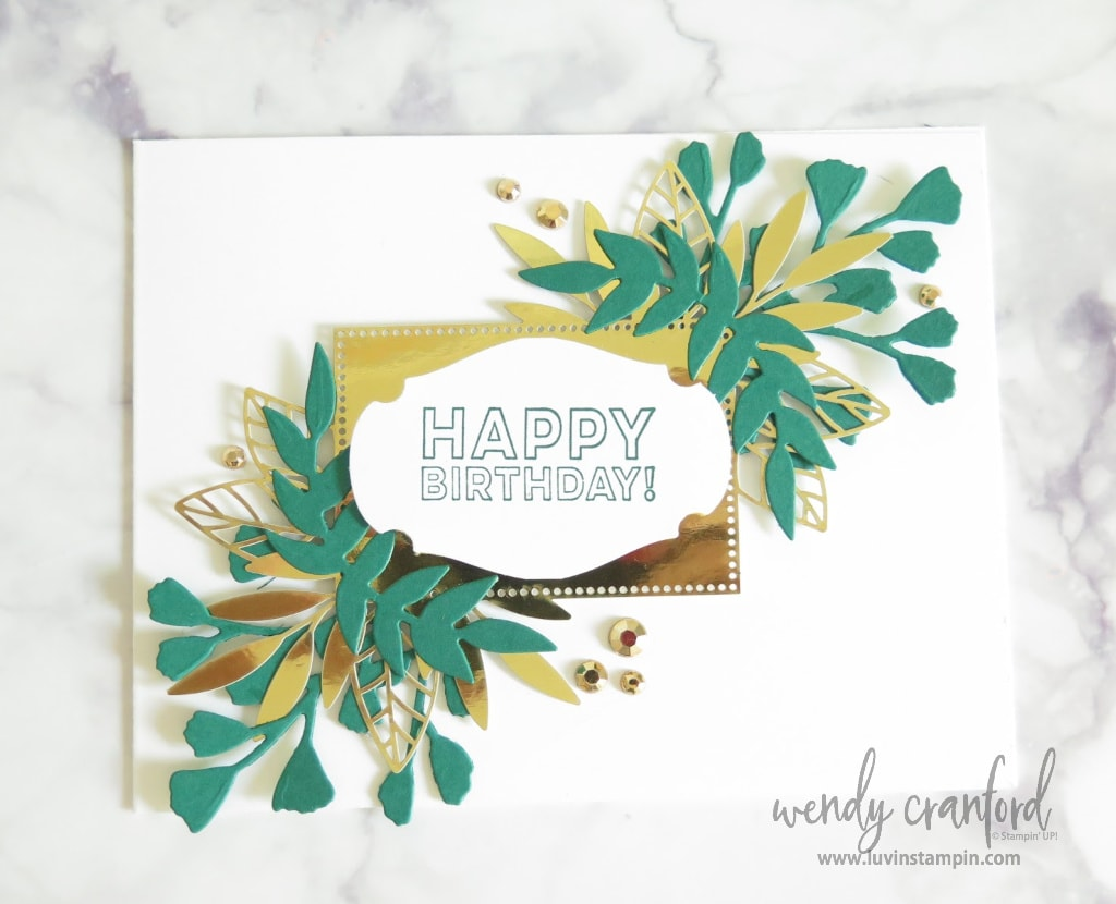 Forever Fern Bundle with the gold cut pieces make the cards extra gorgeous.