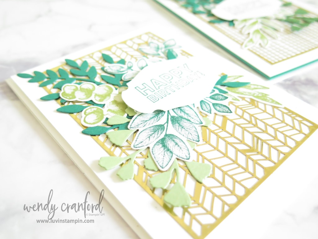 Delicate gold foil die cuts from the new 2020-2021 Stampin' UP! Catalog.