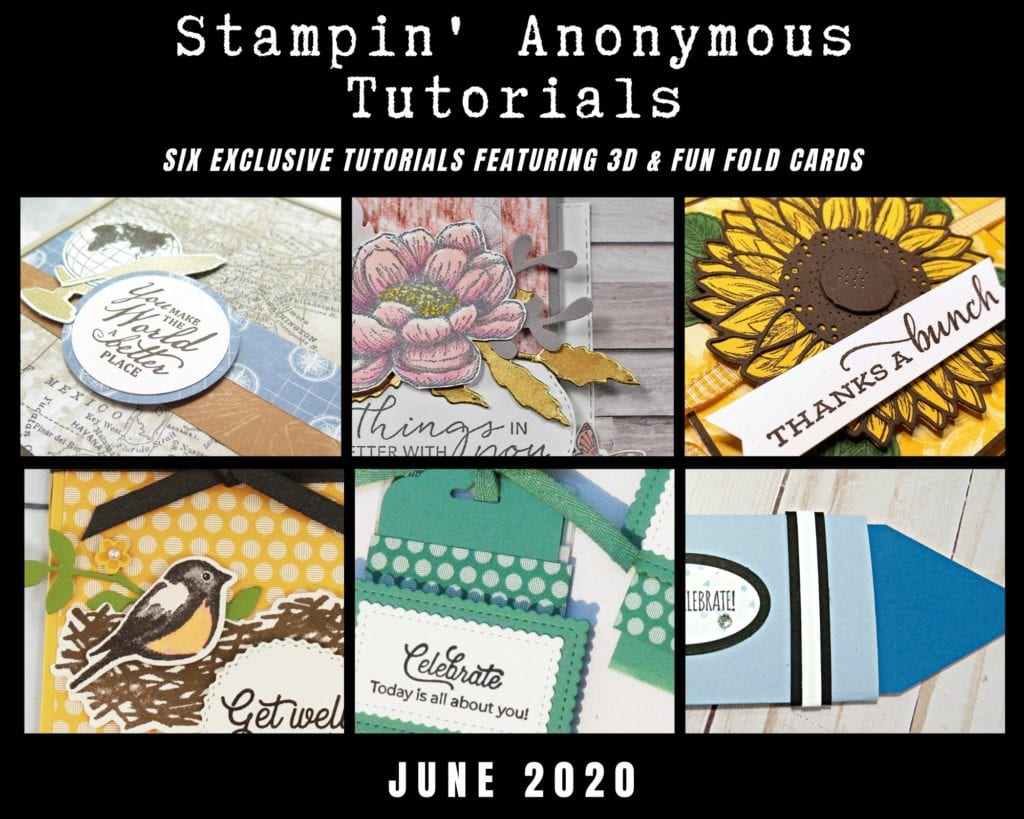 Stampin Anonymous Tutorial bundle for June 2020. Gift card holder tutorials