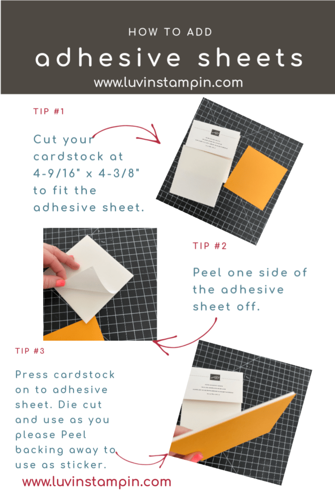 Tips for using foam adhesive sheets from Stampin' UP! ORDER HERE: https://www.stampinup.com/ecweb/product/152815/foam-adhesive-sheets?dbwsdemoid=2076798