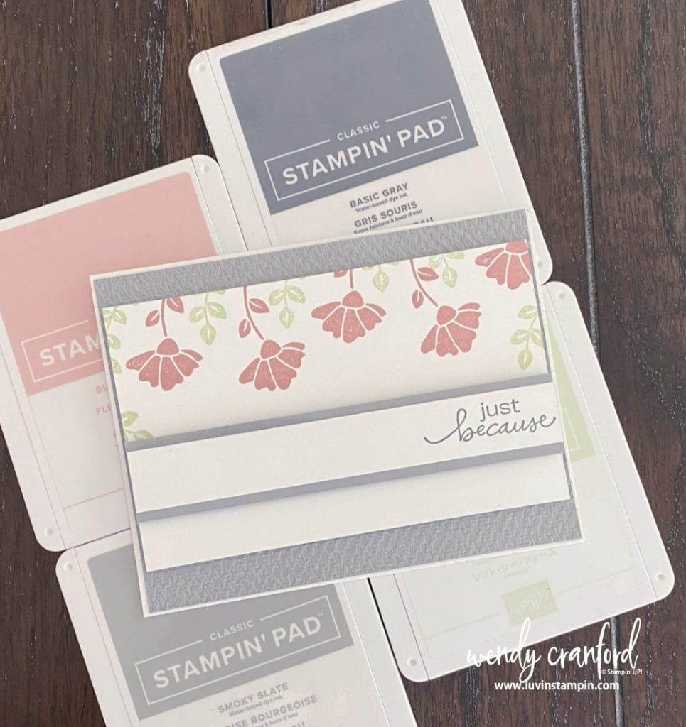 Simple and cute card using the Color Splash One colors