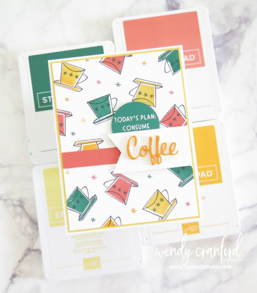 Stamped background idea using Nothings Better than Bundle from Stampin' UP!