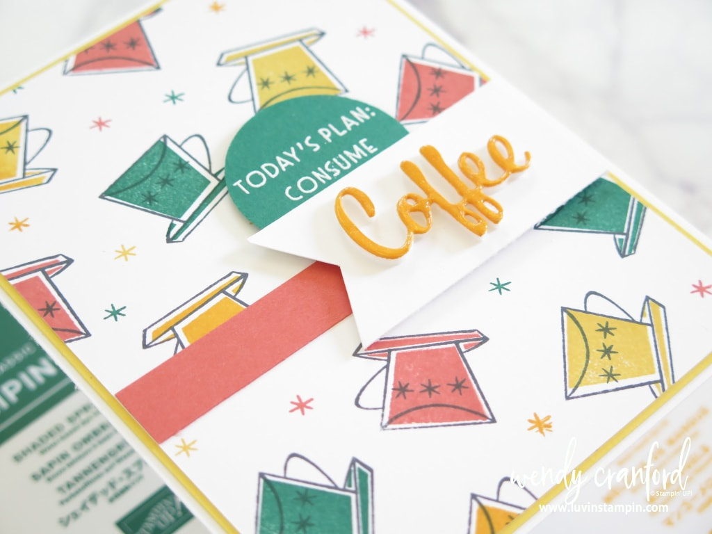Create your own stamped background using any stamp set and a color combo you love.