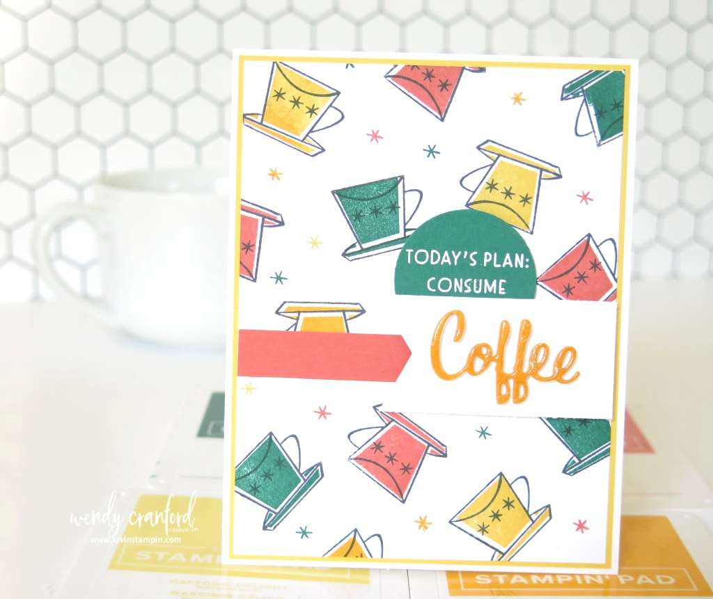 Stamped background ideas using Nothings Better Than Bundle from Stampin' UP!