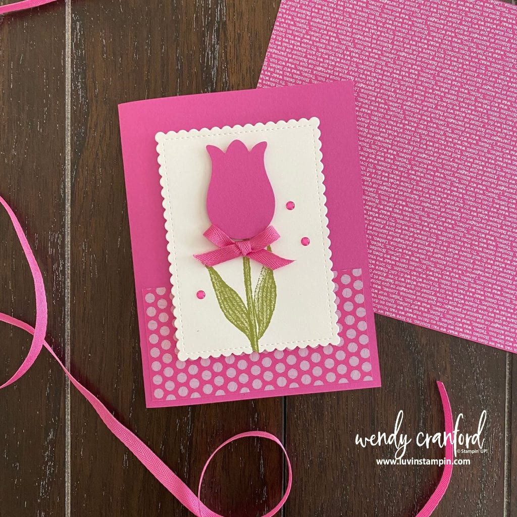 Stampin' UP! Magenta Madness in colors card