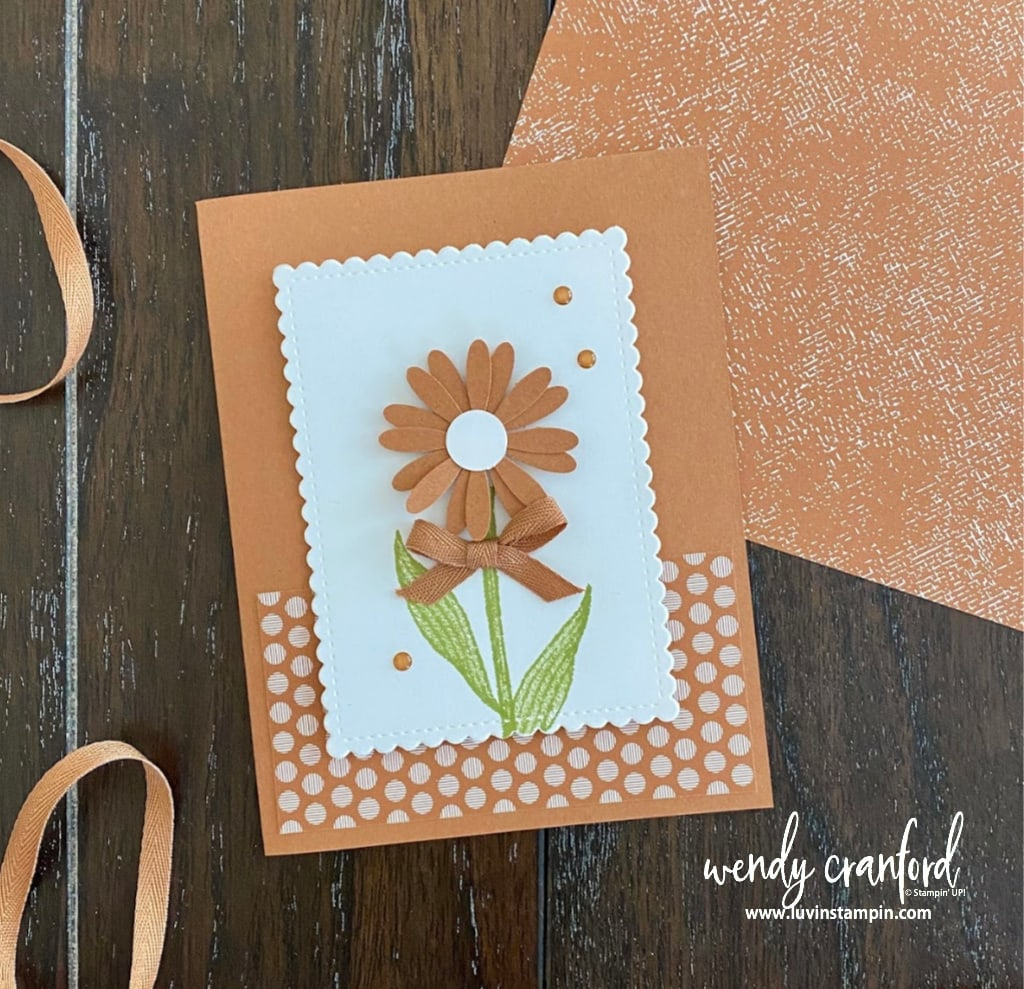 Stampin' UP! Cinnamon Cider in colors card