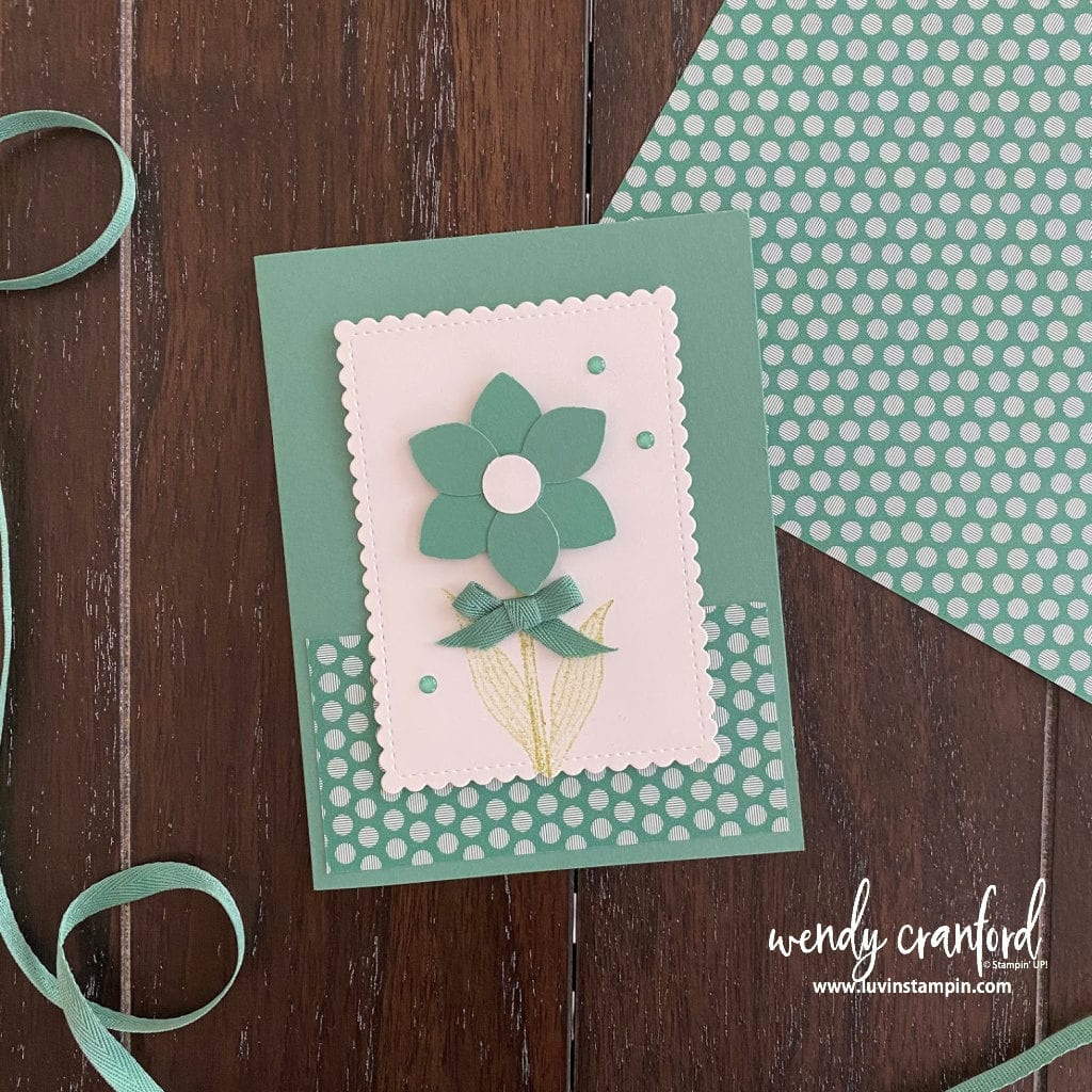 Stampin' UP! Just Jade in colors card