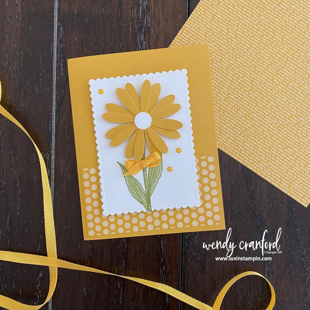 Stampin' UP! Bumblebee in colors card