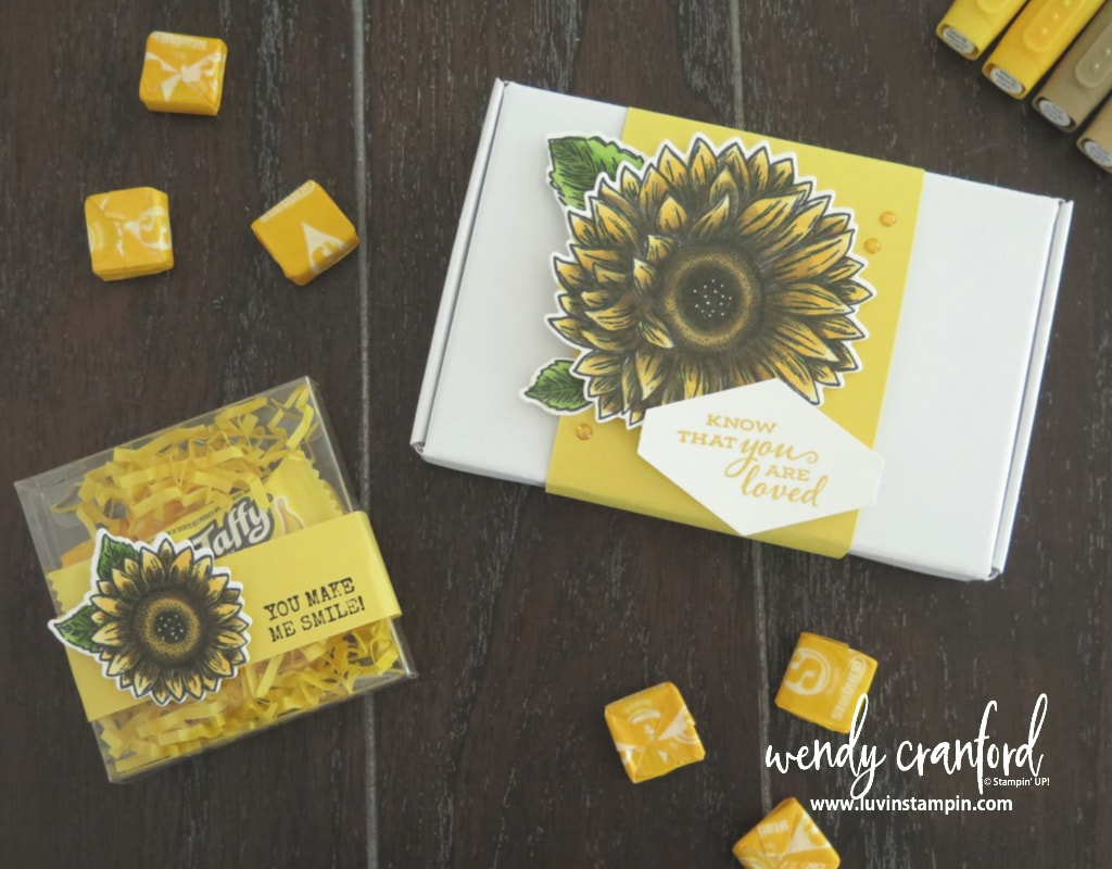 Share sunshine box to send to people to brighten someones day.