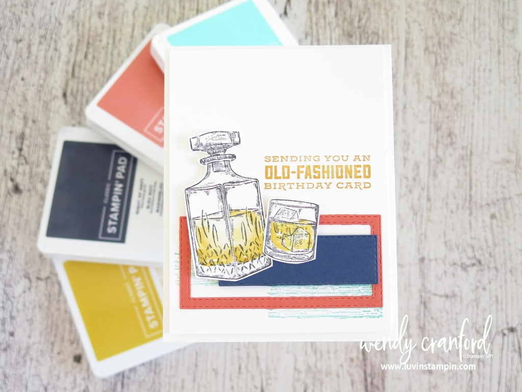 Whiskey Business card featuring Color Splash Six