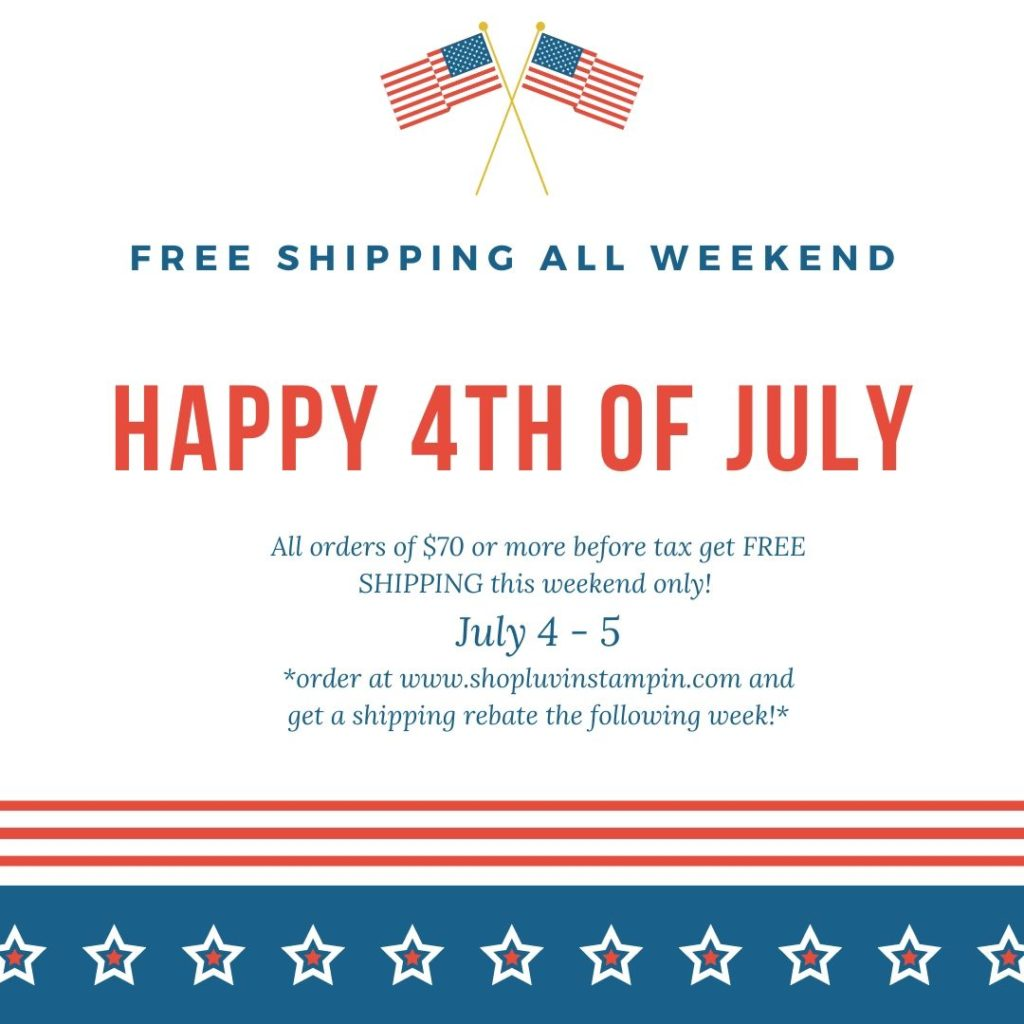 Fourth Of July Free Shipping offer with Wendy Cranford