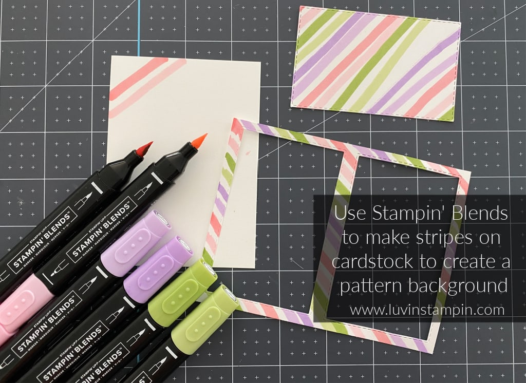 Stampin' Blends create beautiful backgrounds for any card.