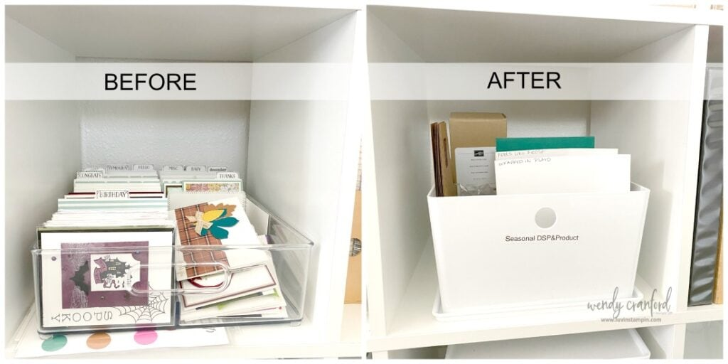 IKEA craft cubes are perfect for displaying and organizing craft tools