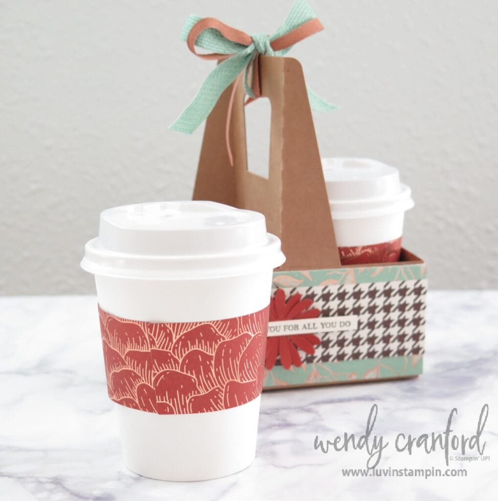 Mini coffee cup with candy and gift card.