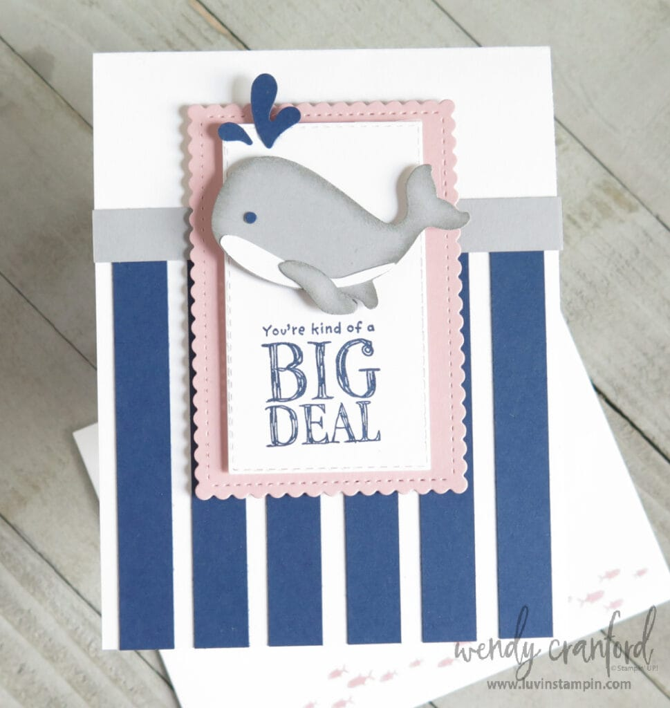 Make a cute whale with the Stampin' UP! Whale punch