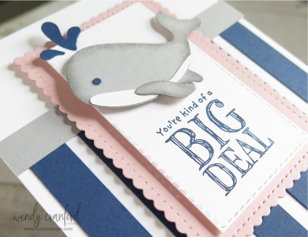 Stampin' UP Whale Done bundle using a fun color combo