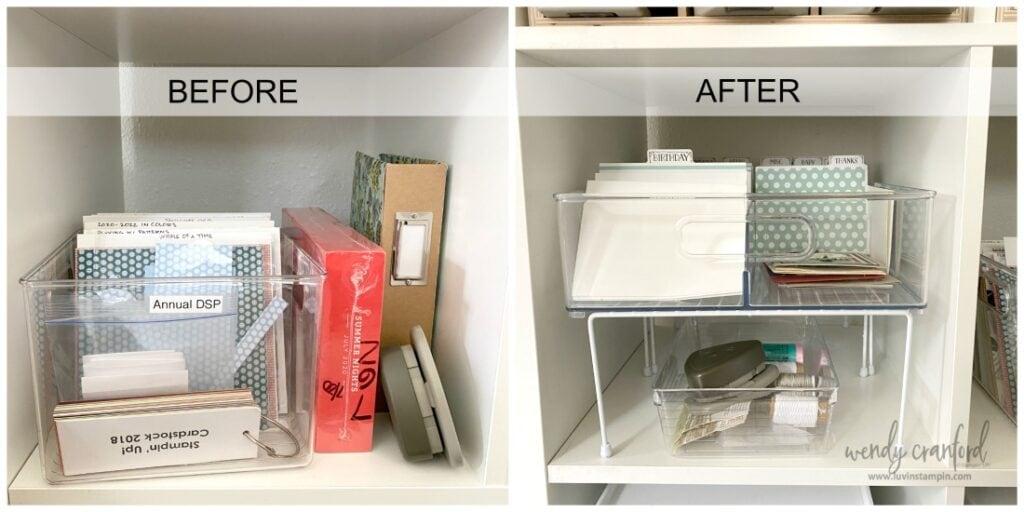 IKEA Kallax unit craft storage