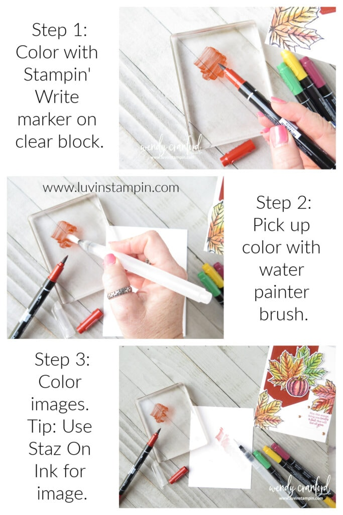 Step by step on using watercolor with markers technique.