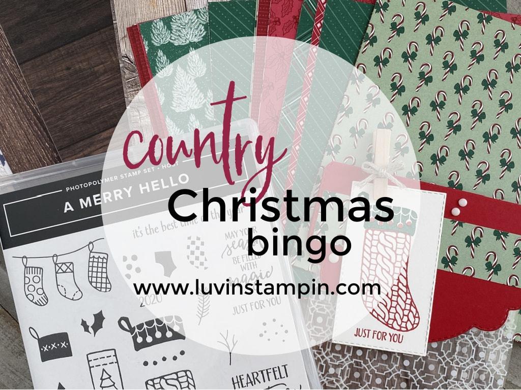 Country Christmas Bingo event