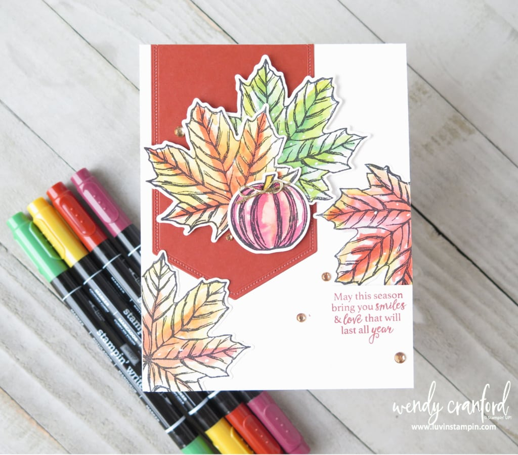 Fall card using Stampin' Write markers from Stampin' UP!