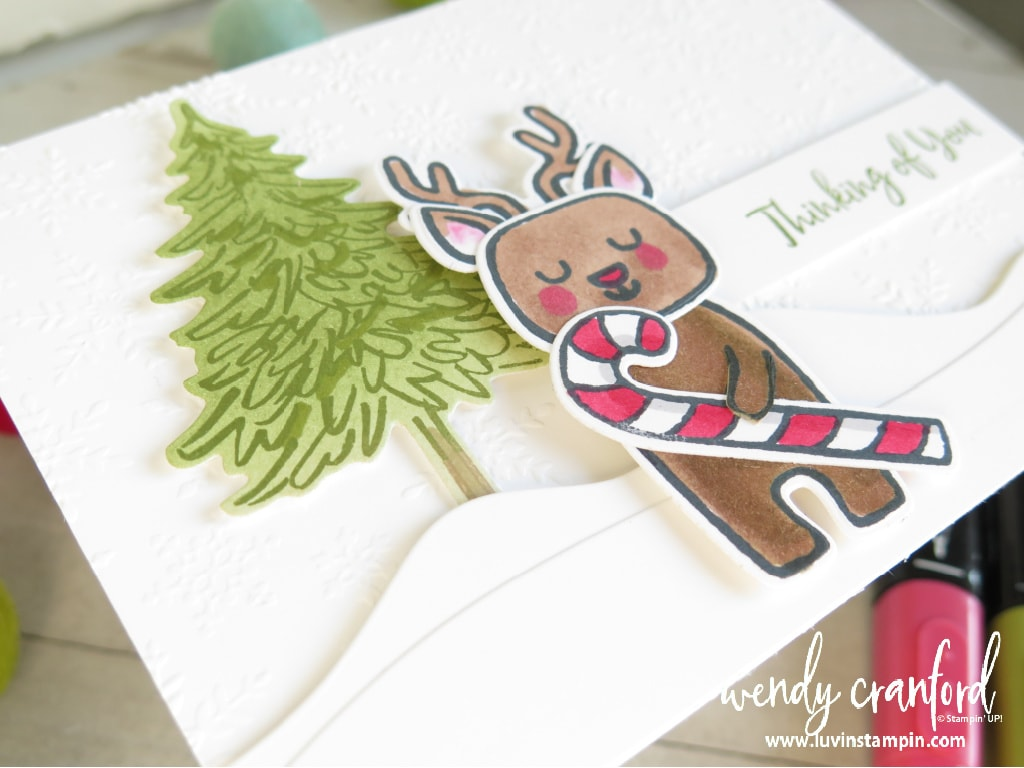 Reindeer with a candy cane from Menagerie Mix Up