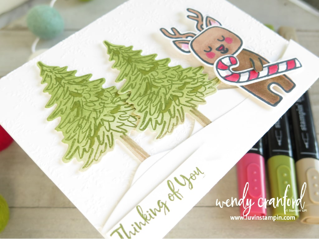 Thinking of you at Christmas card featuring the Menagerie Mix Up bundle from Stampin' UP!