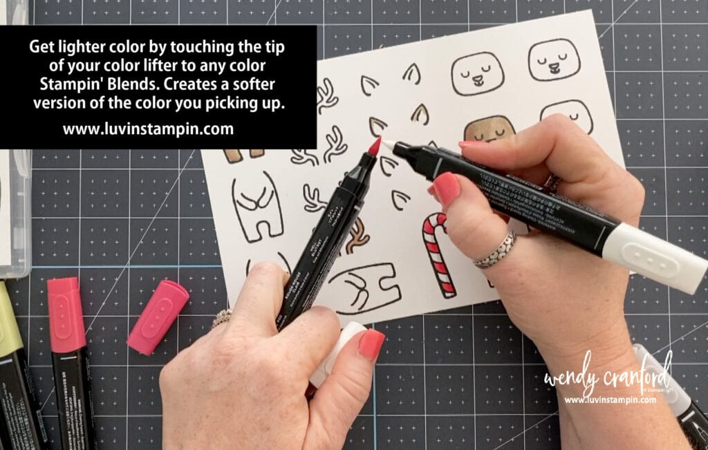 Quick coloring tip using Stampin' Blends