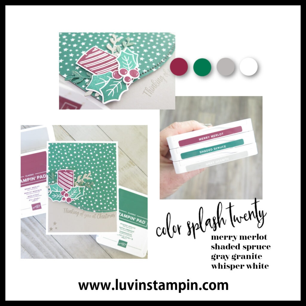Color Splash Twenty features Curvy Christmas stamp set from Stampin' UP!