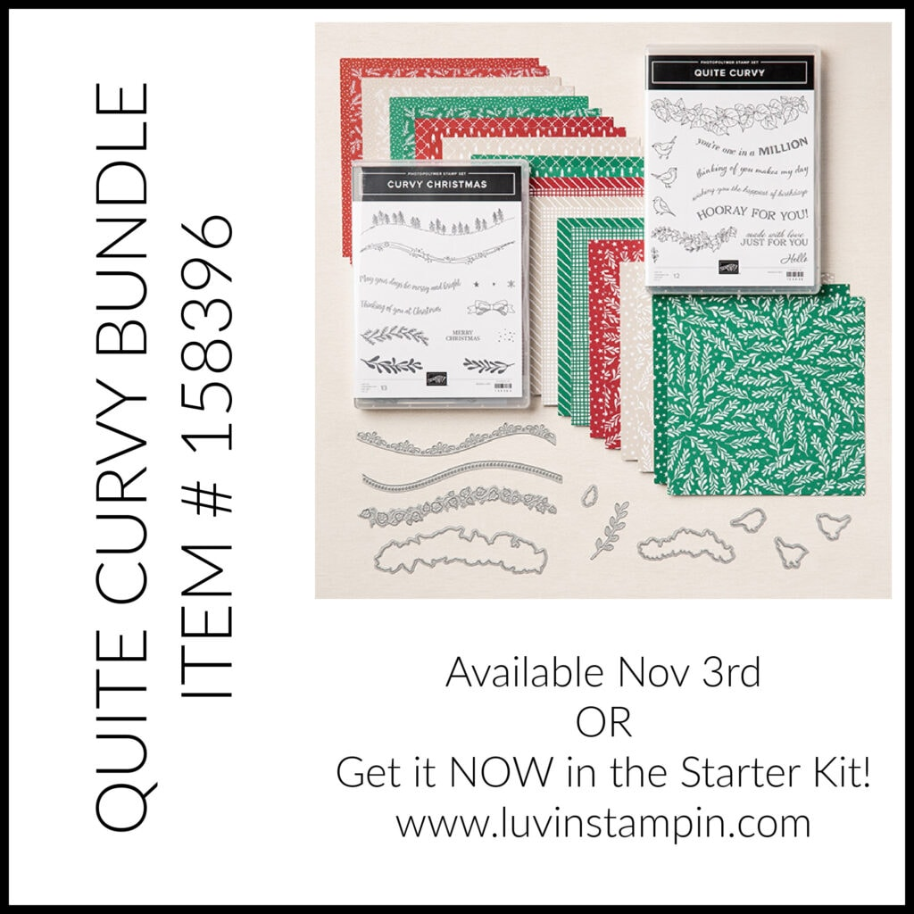 Quite Curvy Bundle and Curvy Christmas stamp set from Stampin' UP!