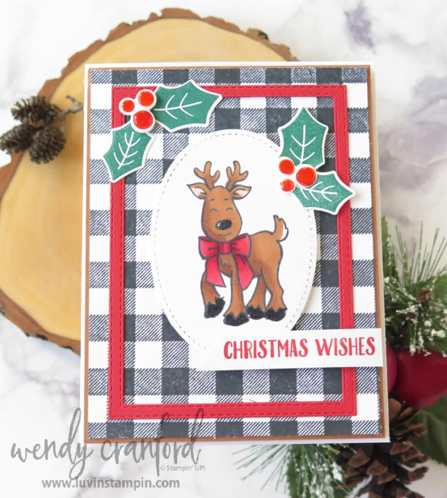 Handmade Christmas card featuring Warm & Toasty stamp set from Stampin' UP!