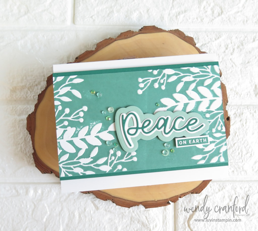 Peace on earth card with fun embossing technique