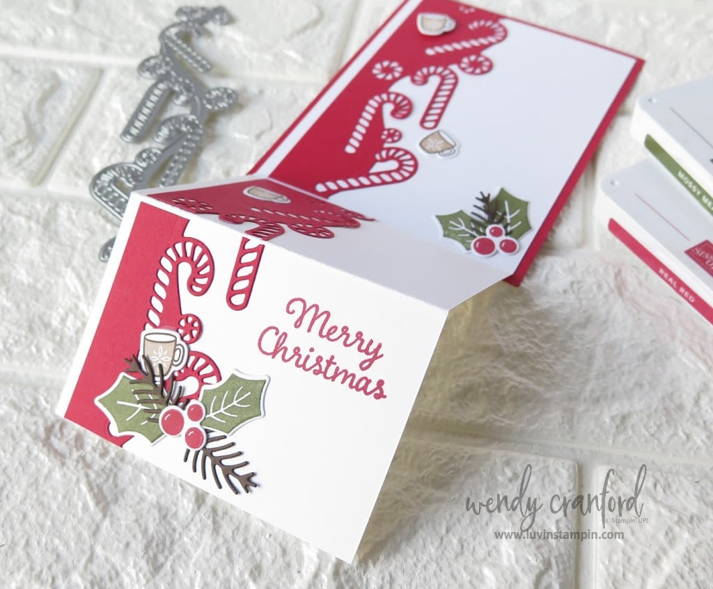 Fun fold Christmas Cards featuring Stampin' UP! Sweetest Time Bundle