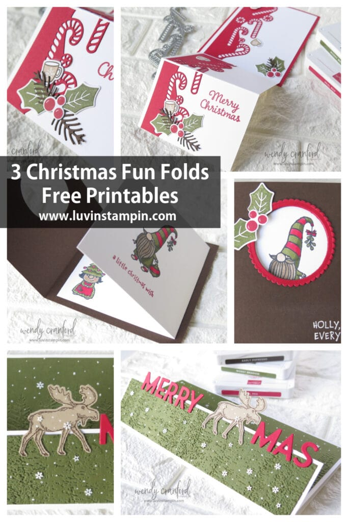 2 Fun Fold Christmas cards