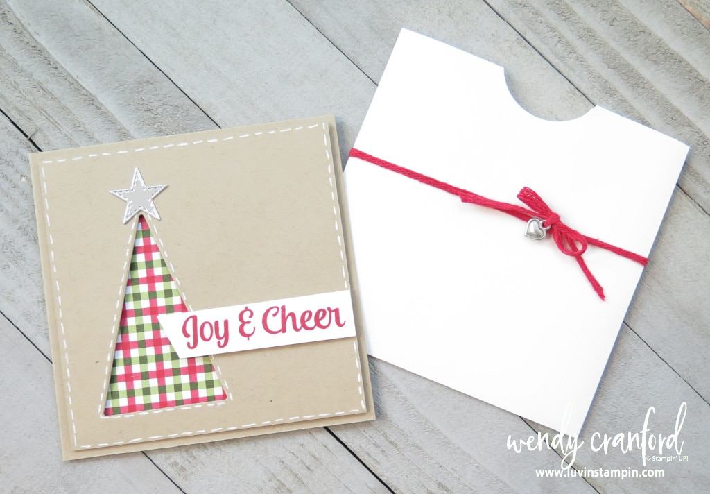 Tree Angle card and pocket envelope
