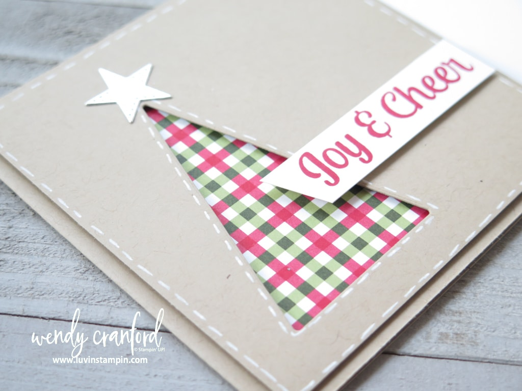 Tree Angle card using Stampin' UP! Stitched Triangle dies