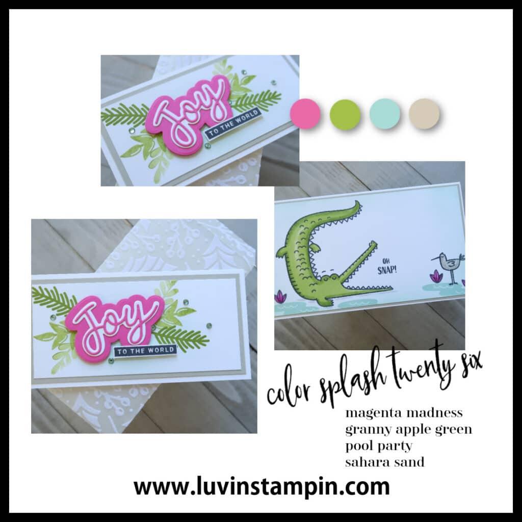 Color Splash Twenty Six for fun cardmaking color inspiration