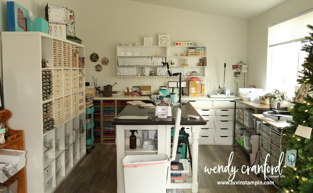 Crafty clean up room organization