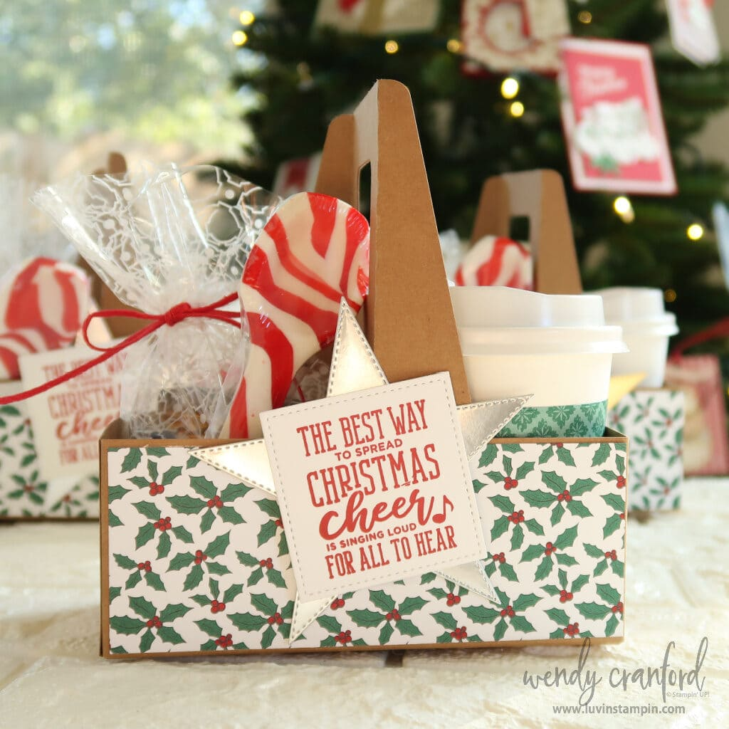Last minute gift packed with a cute hot cocoa packet and chocolates.