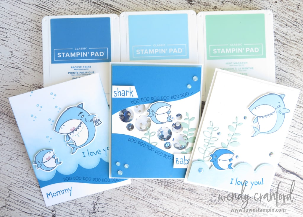 Blue color inspiration with Shark Frenzy bundle
