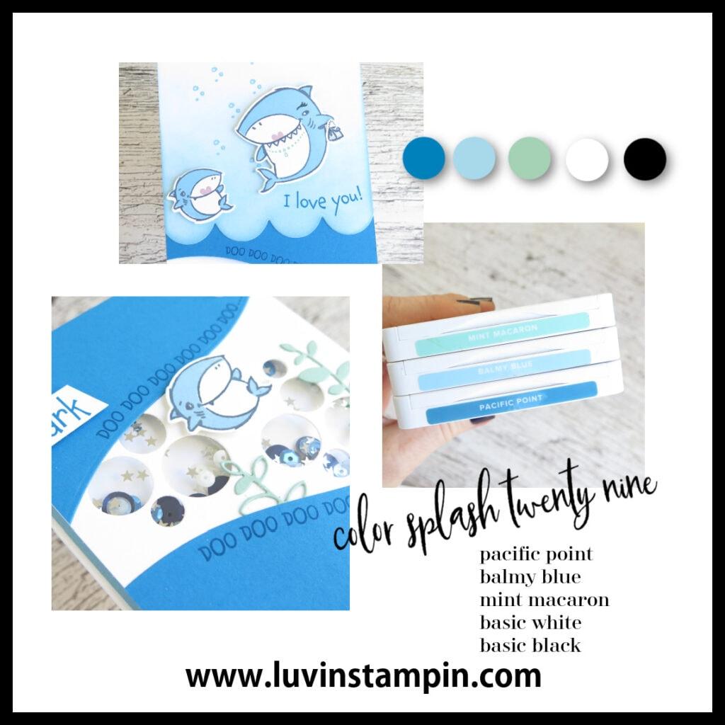 Color Splash 29 inspiration using Shark Frenzy Bundle