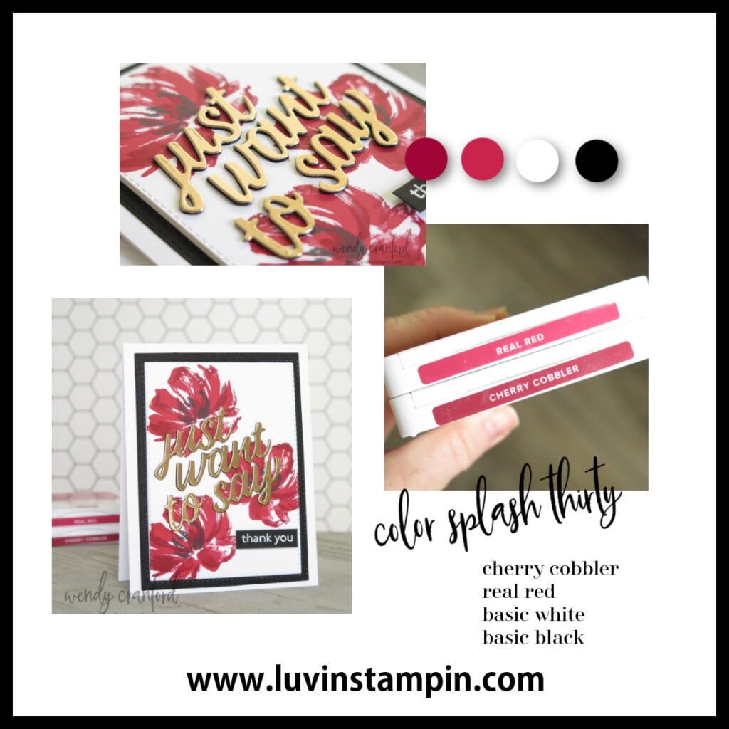 Floral card ideas using the Color Splash 30 inspiration